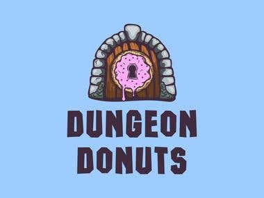 Logotype for Dungeon Donuts