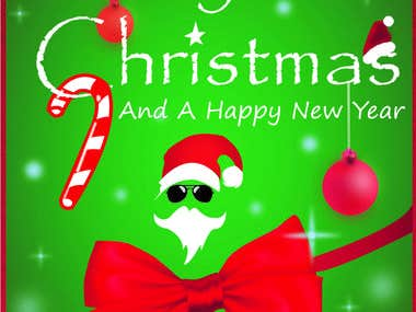 Merry Christmas A4 Sheet Card