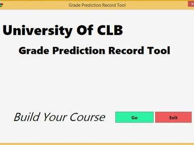 Grade Prediction Records Tool