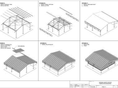 Structural Analysis and Construction Method for Warehouse