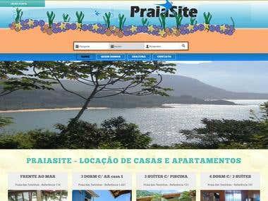 PraiaSite - sistema de locação de casas automatizado