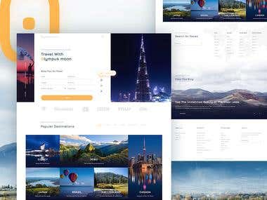 Hotel booking website design