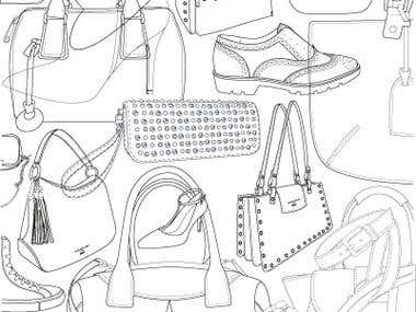 illustrations of fashion articles
