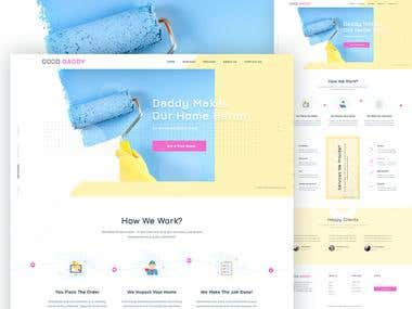 Home service website design