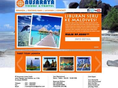 Nusaraya Travel Website