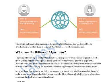 Crypto Algorithms