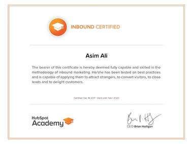 Hubspot Certificate