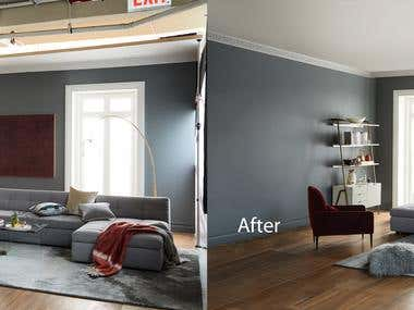 real state image Retouching and color correction