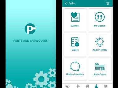 Parts and Catalogue App