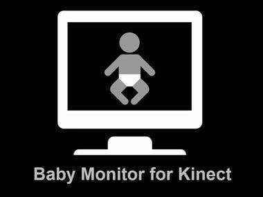 Non invasive breathing monitor for babies using Xbox One