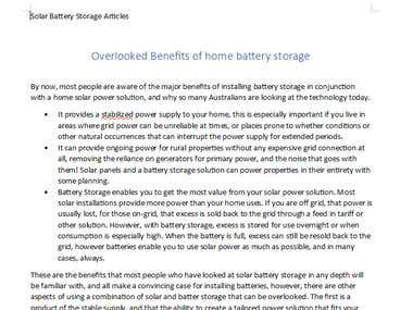 Overlooked Benefits of home battery storage