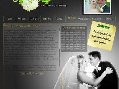 Wedding Site - HTML5