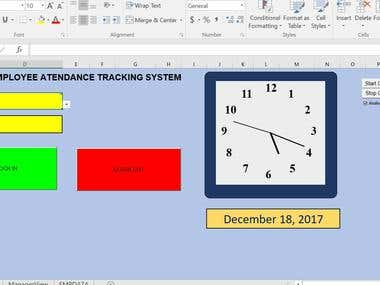 Employees attendance tracker