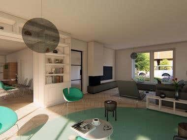 Interior Casa de verano