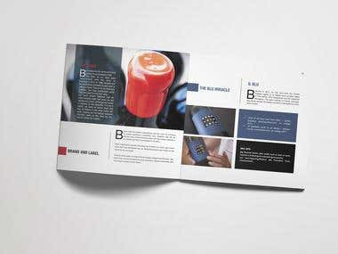 Square brochure design for a Winery