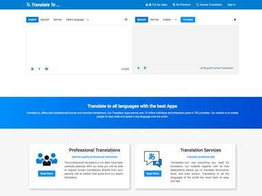 Translation based on Google, Microsoft API