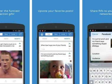 Social Sharing iPhone & Android Apps designs and development