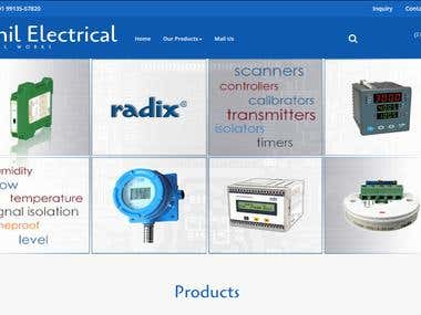 Created Web application for Sunil Electrical Industry