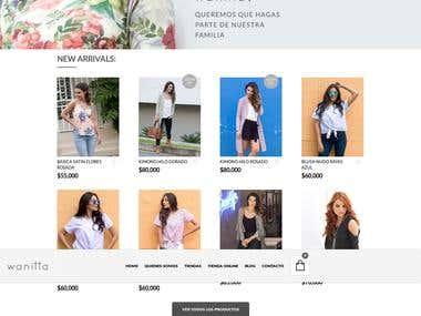 Tienda en linea Wanitta.com