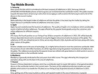 Top Mobile Brands