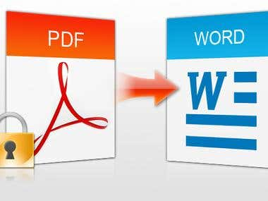 PDF to a word conversion