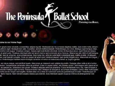 Ballet Website - HTML5