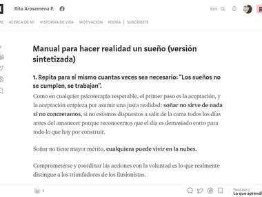 """""""Manual para hacer realidad un sueño"""""""