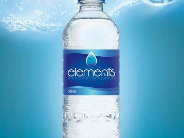 Elements Water Label