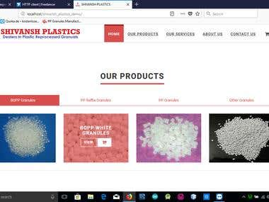Created a Web Application for Shivansh Plastics industry