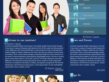 Educational Website Layout