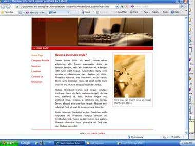 HTML Business web site