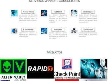Desarrollo y diseño de sitio web - WINXOFT CONSULTORES