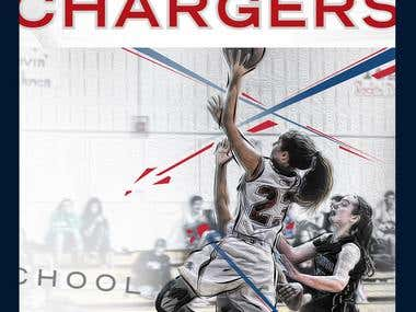 Providence Day School Chargers Wall Mural