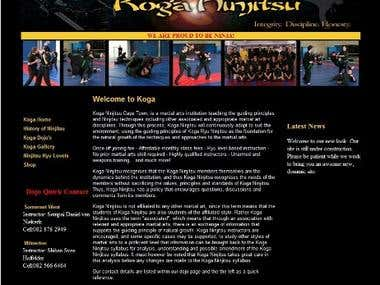 Martial Arts Website - HTML5