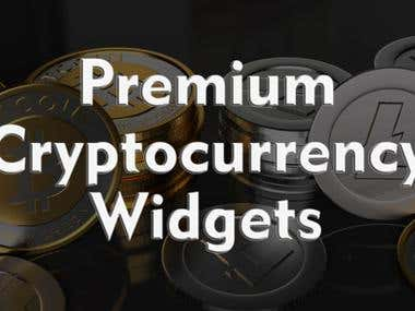 Premium Cryptocurrency Widgets