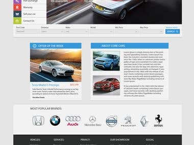 Cars listing website