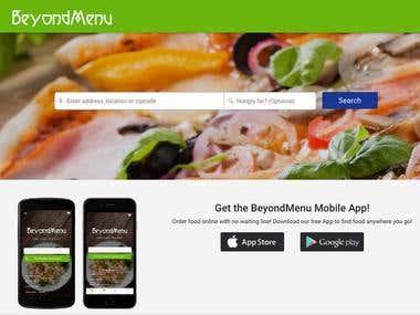 BeyondMenu Food Delivery Mobile App Development