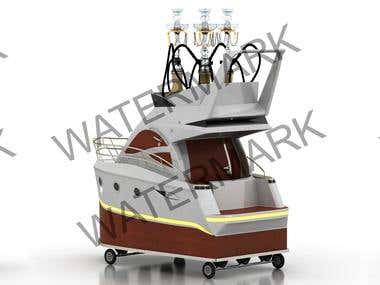 3D Hookah Trolley Design