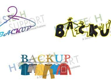 Backup logo design