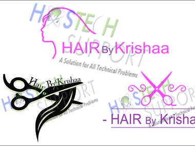 Krishaa Hair Salon Logo Design
