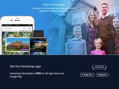 Homesnap Real Estate & Rentals Mobile App Development