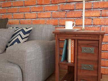 Furniture modelling & rendering