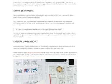 Blog Article Writing: Present Website