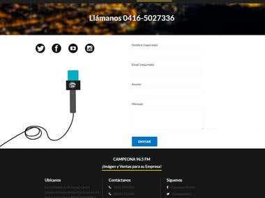 Desarrolo y Diseño web para la radio Campeona 96.5 FM