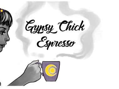 Gypsy Chick Espresso Custom Logo