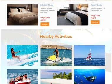 Website for Playa Vida Hotel