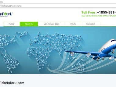 """Logo design for """" ticketsforu.com """" online travel company"""
