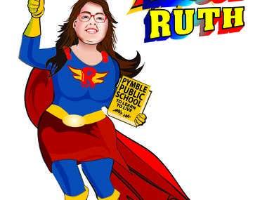 Lady superhero_Draw