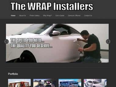 Wordpress Site for Wrap Installer