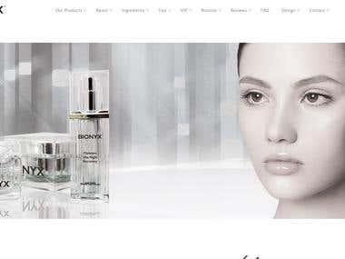Bionyx skin care-wordpress